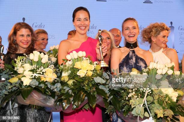 Carla Kromberg Maria HoeflRiesch Ana Ivanovic Anne MeyerMinnemann Susanne Steinkraus during the Gala Spa Awards at Brenners ParkHotel Spa on March 25...