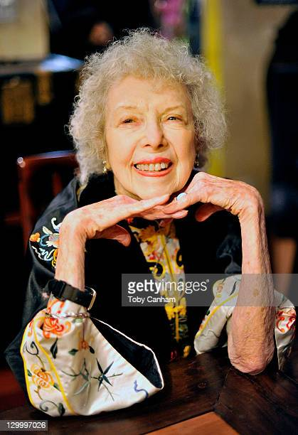 Carla Laemmle poses for a picture celebrating her 102nd birthday on October 22 2011 in Beverly Hills California