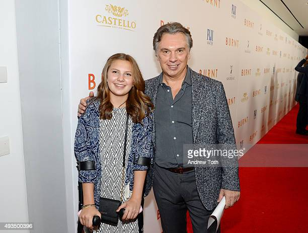 Carla Leone and Francesco B Leone attend the New York premiere of BURNT presented by The Weinstein Company Sassoregale Wine Castello Cheese and FIJI...