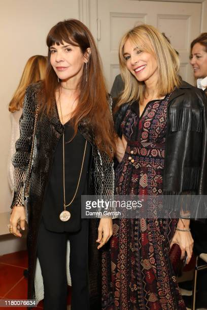 Carla Maria Orsi Carbone and Kim Hersov attend the MATCHESFASHION X Julie De Libran launch event at 5 Carlos Place on October 09 2019 in London...