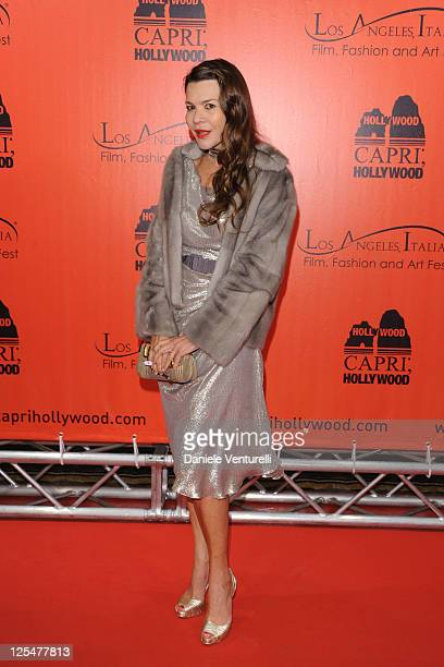 Carla Maria Orsi Carbone attends the Wall Street Milan Premiere on October 18 2010 in Milan Italy