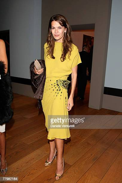 Carla Maria Orsi Carbone attends the 'Why Africa' exhibition opening At the Pinacoteca Giovanni E Marella Agnelli on October 5 2007 in Turin Italy