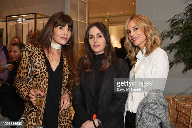 Carla Maria Orsi Carbone Tania Fares and Kim Hersov attend 'Dior And His Decorators' Book Signing at Dior Boutique on October 10 2018 in London...