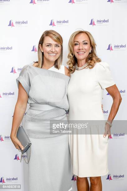 Carla Mcguire and Ann Peacock arrives ahead of the 2nd Annual Mirabel Ladies Lunch at Glasshouse on February 24 2017 in Melbourne Australia