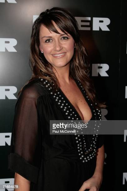 Carla McGuire arrives at the Myer Spring/Summer Fashion Show 2006 at the Royal Hall of Industries on August 16 2006 in Sydney Australia