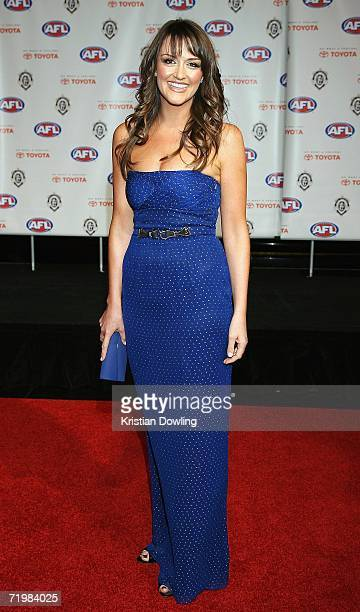 Carla McGuire arrives for the 2006 AFL Brownlow Medal Dinner at Crown Casino September 25 2006 in Melbourne Australia