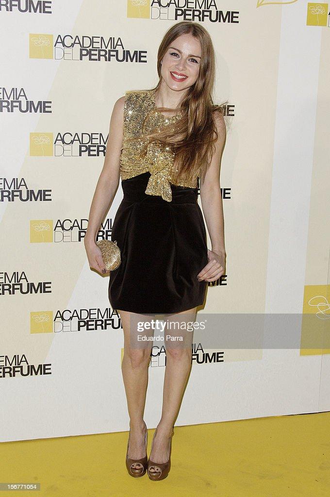Carla Nieto attends Academia del perfume awards photocall at Casa de America on November 20, 2012 in Madrid, Spain.