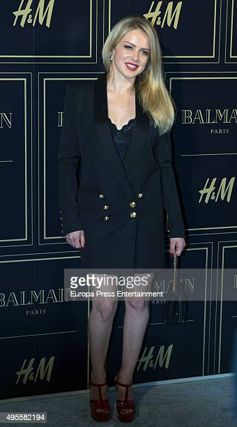 Carla Nieto attends Balmain and HM Collection launch party at Neptuno Palace on November 3 2015 in Madrid Spain