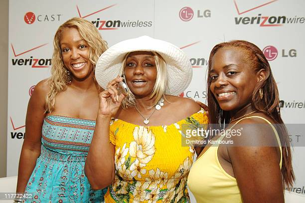 Carla Osorio Janice Combs and Keisha Combs during 2005 MTV VMA Verizon Wireless V CAST Suite Day 2 at Style Villa at the Sagamore Hotel in Miami...