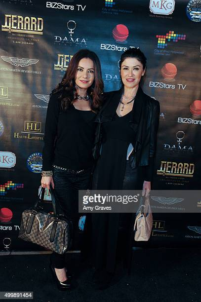 Carla Rodriguez and Luzelba Mansour attend the Project Divine from JGerard Peace Gallery a VIP celebrity cocktail event with black Carpet and silent...