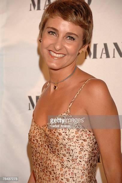 Carla Royo Villanova arrives to the Mango Party on July 16 2007 at Atzaro Hotel in Ibiza Spain