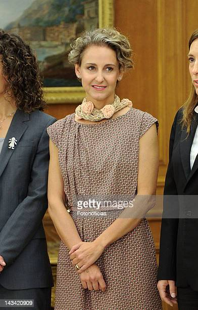 Carla Royo Villanova attends an audience at Zarzuela Palace on April 26 2012 in Madrid Spain