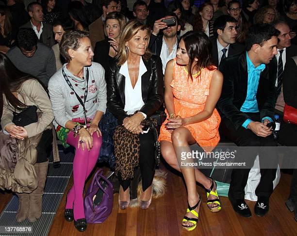 Carla Royo Villanova Cari Lapique and Maria Jose Suarez attend the TCN's photocall for 080 Barcelona fashion week on January 25 2012 in Barcelona...