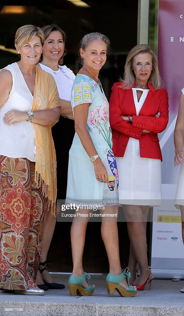 Carla Royo-Villanova (2R) attends FEDEPE Awards at Cecilio Rodriguez gardens on July 26, 2016 in Madrid, Spain.