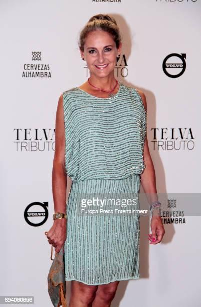 Carla RoyoVillanova attends the tribute gala to Paco Rabanne at Real Academia de Bellas Artes de San Fernando on June 8 2017 in Madrid Spain