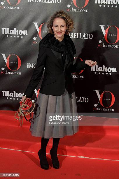 Carla RoyoVillanova attends Yo Dona mask dance party photocall at Madrid Casino on February 18 2013 in Madrid Spain