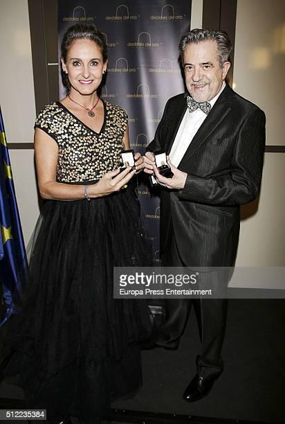 Carla RoyoVillanova atttend the delivery of 'Dedales de Oro' Award 2016 to Petro Valverde on February 19 2016 in Madrid Spain
