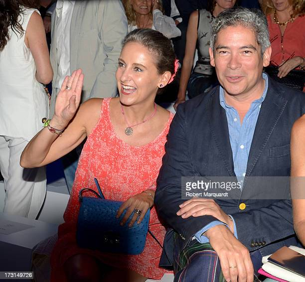 Carla RoyoVillanoval and Boris Izaguirre attend the MANGO fashion show during the 080 Barcelona Fashion week 2014 held at the Disseny Hub Barcelona...
