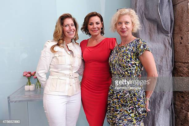 Carla Ruben Countess Luann de Lesseps and Wendy DeMarco attend Big Brothers Big Sisters Of NYC Summer Cooking Class at Creative Edge Parties on June...