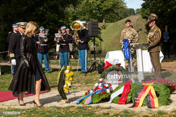 Carla Sands Ambassador of the United States of America during the wreath laying ceremony at the official inauguration of the Australian War Monument...