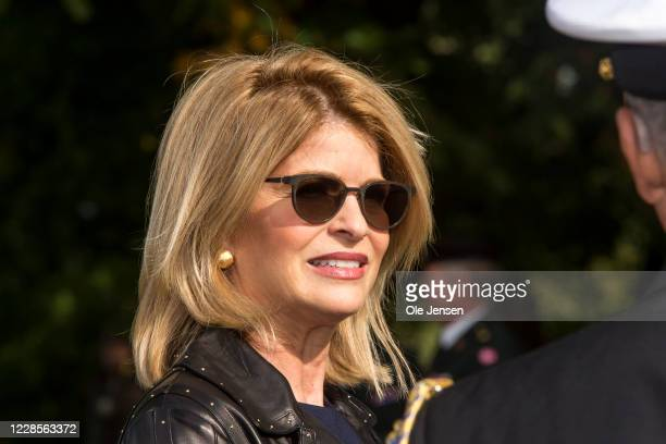 Carla Sands Ambassador of the United States of America seen at the official inauguration of the Australian War Monument at the Churchill Memorial...