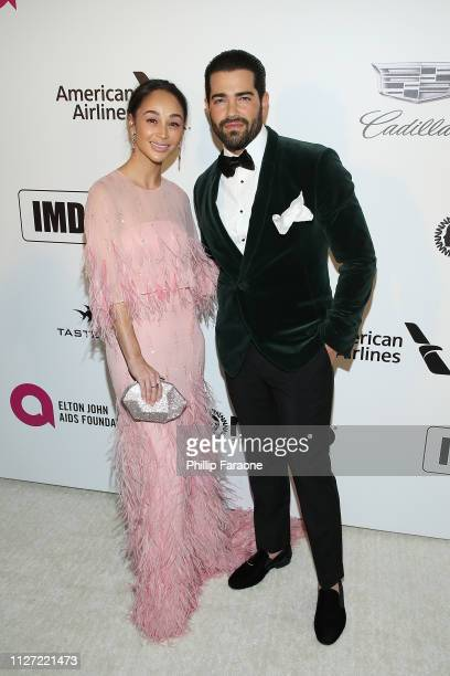 Carla Santana and Jesse Metcalfe attend the 27th Annual Elton John AIDS Foundation Academy Awards Viewing Party Celebrating EJAF and The 91st Academy...