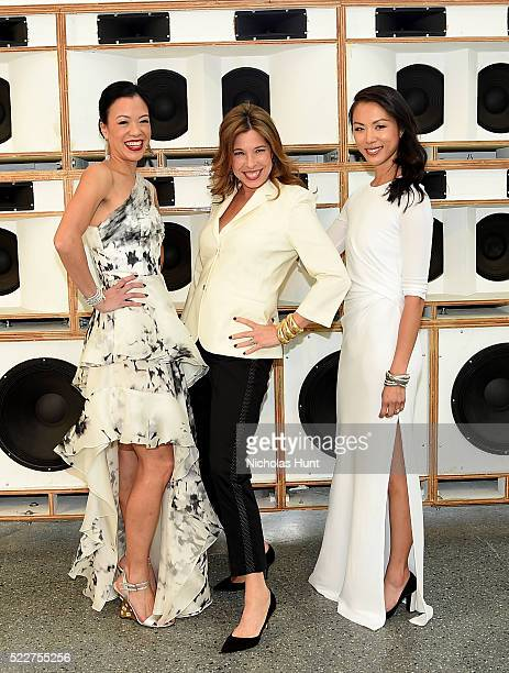 Carla Shen Anne Pasternak and Olivia Song attend The 2016 Brooklyn Museum Artists Ball Honoring Stephanie and Tim Ingrassia on April 20 2016 in New...
