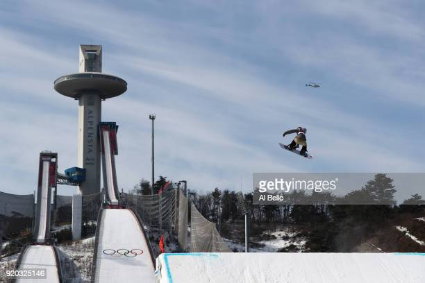 Carla Somaini of Switzerland competes during the Snowboard Ladies' Big Air Qualification on day 10 of the PyeongChang 2018 Winter Olympic Games at...