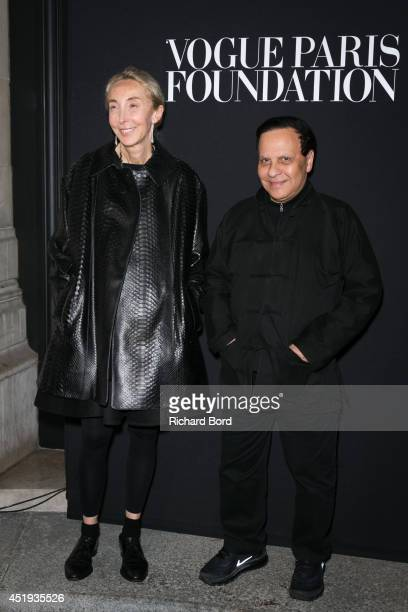Carla Sozzani and Azzedine Alaia attend the Vogue Foundation Gala as part of Paris Fashion Week at Palais Galliera on July 9 2014 in Paris France