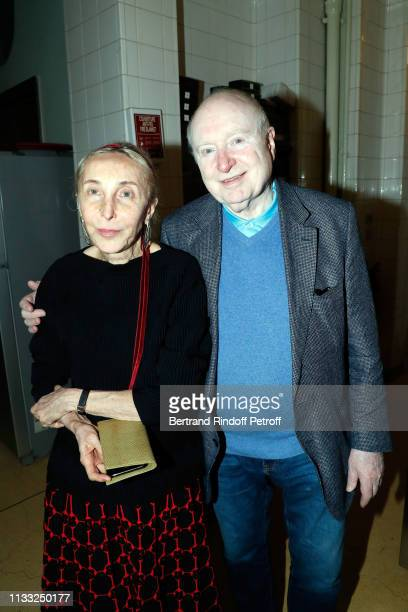 Carla Sozzani and Christoph von Weyhe attend the Kenzo Takada Book Signing during 'Azzedine Alaia Collectioneur Adrian et Alaia L'art du tailleur'...