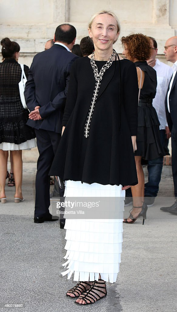 Carla Sozzani attends 'Couture / Sculpture' Vernissage Cocktail honoring Azzedine Alaia in the history of fashion as part of AltaRoma AltaModa Fashion Week Fall/Winter 2015/16 at Galleria Borghese on July 10, 2015 in Rome, Italy.