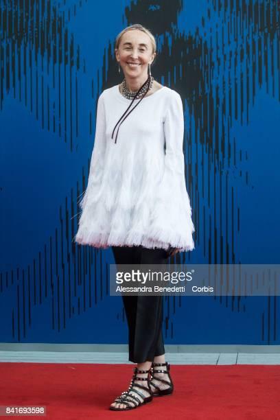 Carla Sozzani attends the The Franca Sozzani Award during the 74th Venice Film Festival at Sala Giardino on September 1 2017 in Venice Italy