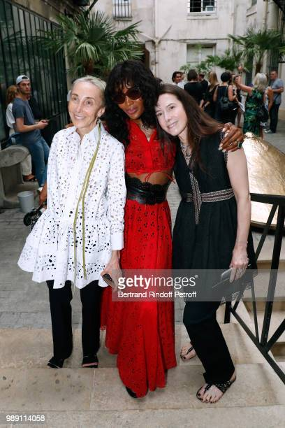 Carla Sozzani Naomi Campbell and Caroline FabreBazin attend L'Alchimie secrete d'une collection The Secret Alchemy of a Collection Exhibition Preview...