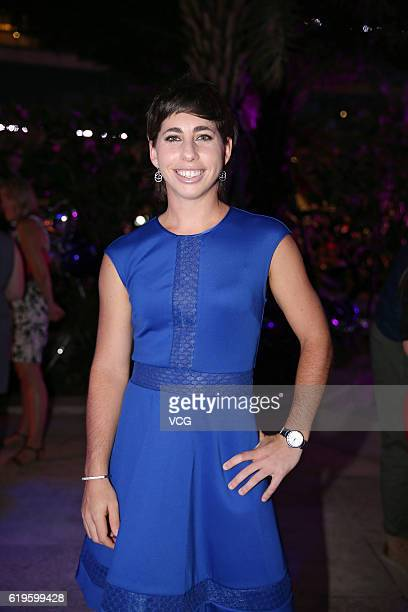Carla Suarez Navarro of Spain attends the player party ahead of the 2016 WTA Elite Trophy Zhuhai on October 31 2016 in Zhuhai Guangdong Province of...