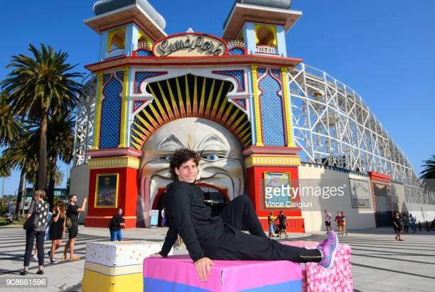 Carla SuarezNavarro of Spain poses at Luna Park on day eight of the 2018 Australian Open at Melbourne Park on January 22 2018 in Melbourne Australia