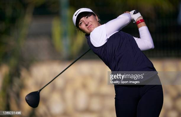 Carla Tejedo of Spain tees off during Day one of the Spanish Professional Women's Golf Championship 2020 at Oliva Nova Beach & Golf Resort on...