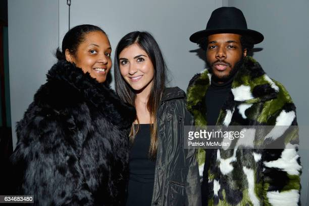 Carla Wallace Alexa Gulian and Cam Braswell attend the Nicole Miller Fall 2017 After Party on February 10 2017 in New York City