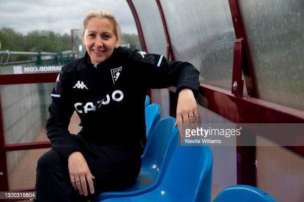 Carla Ward of Aston Villa poses for a picture at Bodymoor Heath training ground on May 27, 2021 in Birmingham, England.