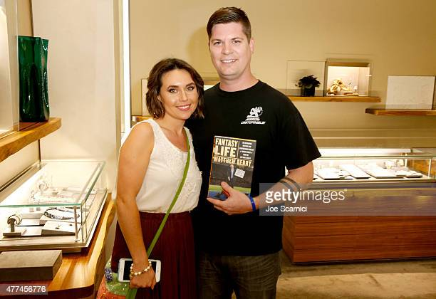 Carla Wood and Jon Wood attend an instore event hosted by David Yurman with Matthew Berry at David Yurman on June 16 2015 in Costa Mesa California