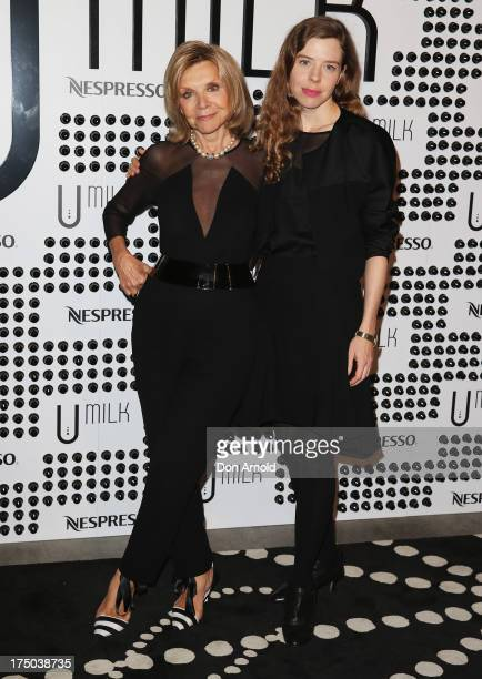 Carla Zampatti and Bianca Spender arrive at the Nespresso Umilk machine launch on July 30 2013 in Sydney Australia