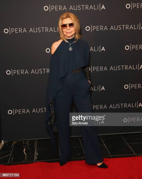 Carla Zampatti arrives ahead of Madama Butterfly Opening Night at Capitol Theatre on October 24 2017 in Sydney Australia