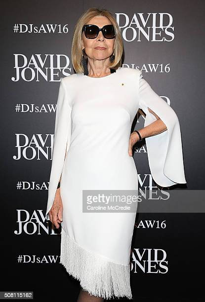 Carla Zampatti arrives ahead of the David Jones Autumn/Winter 2016 Fashion Launch at David Jones Elizabeth Street Store on February 3 2016 in Sydney...