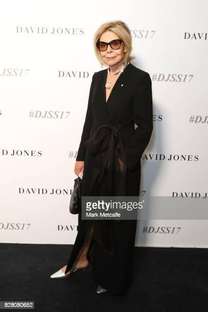 Carla Zampatti arrives ahead of the David Jones Spring Summer 2017 Collections Launch at David Jones Elizabeth Street Store on August 9 2017 in...
