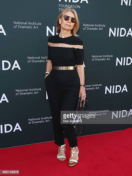 Carla Zampatti arrives ahead of The National Institute of Dramatic Art's new graduate school launch at NIDA on December 6 2015 in Sydney Australia
