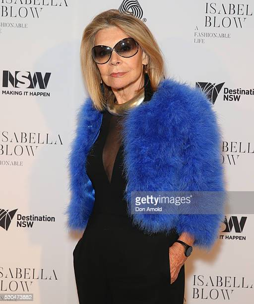 Carla Zampatti arrives ahead of the VIP launch of Daphne Isabella Blow A Fashionable Life at Powerhouse Museum on May 11 2016 in Sydney Australia