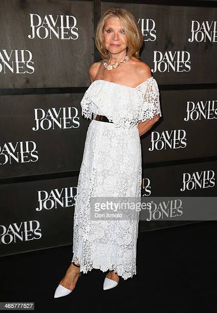 Carla Zampatti arrives at the David Jones A/W 2014 Collection Launch at the David Jones Elizabeth Street Store on January 29 2014 in Sydney Australia