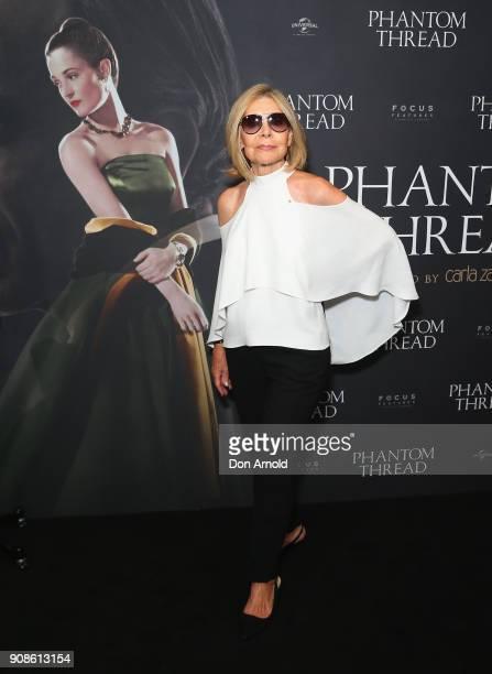 Carla Zampatti attends an exclusive screening of 'Phantom Thread' on January 22 2018 in Sydney Australia