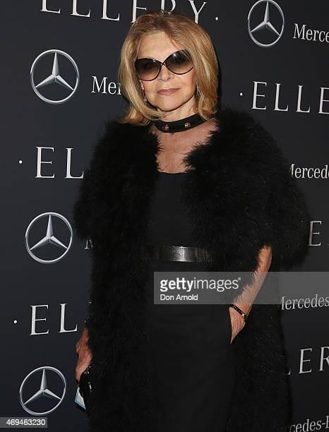 Carla Zampatti attends the MercedesBenz Presents Ellery show at MercedesBenz Fashion Week Australia 2015 at Carriageworks on April 12 2015 in Sydney...