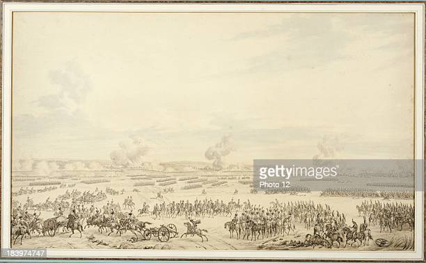 Carle Vernet Battle of Wagram Indian ink embellished with gouache From the Countess de Chambure's collection