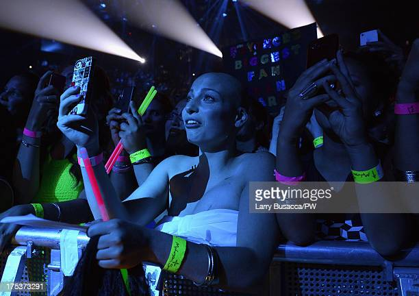 Carlee Stabile attends Beyonce's 'The Mrs Carter Show World Tour' at the Mohegan Sun Arena on August 2 2013 in Uncasville Connecticut Stabile has...